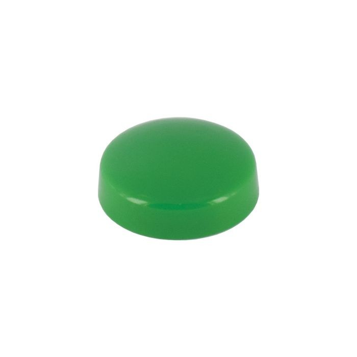 ".700"" Diameter Green Polypropylene Pop-On Screw Cover"