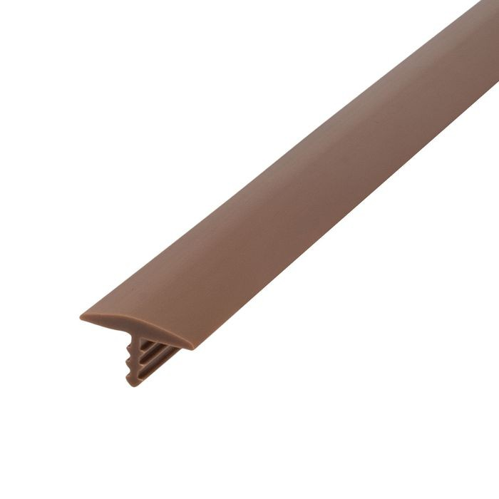 1/2in 709 Tan Flexible Polyethylene | Center Barb Tee Moulding | 250ft Coil