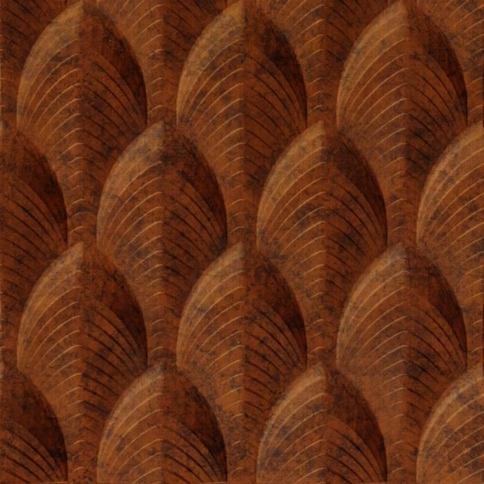 10' Wide x 4' Long South Beach Pattern Moonstone Copper Finish Thermoplastic Flexlam Wall Panel