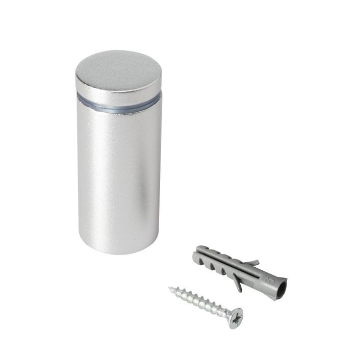 "1"" Diameter x 2"" Barrel Length Silver Aluminum Eco Series Easy Fasten Standoff"