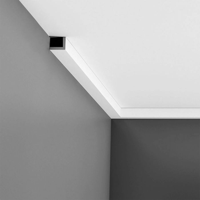 Orac Decor | Polystyrene 90° Angle Moulding | Primed White | Face 1-1/2in x 1-1/2in Thick x 96in Long