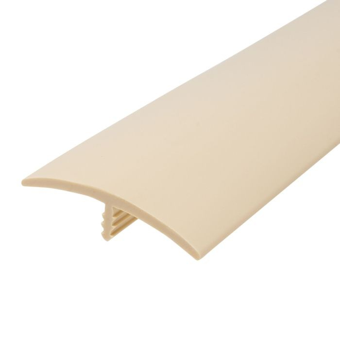 1-1/2in 288 Beige Flexible Polyethylene | Center Barb Tee Moulding | 250ft Coil