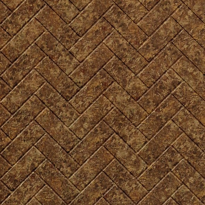 FlexLam 3D Wall Panel | 4ft W x 10ft H | Herringbone Pattern | Bronze Fantasy Finish