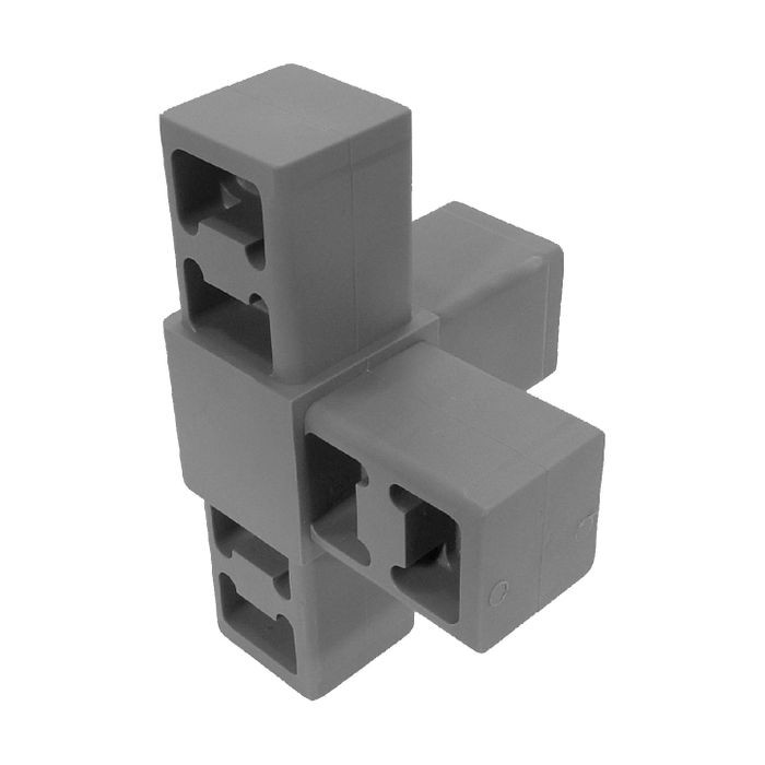 Grey Dupont Super Toughened Nylon 4Way Connector