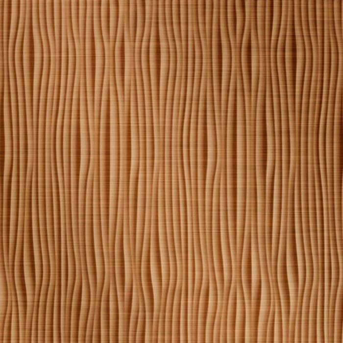FlexLam 3D Wall Panel | 4ft W x 10ft H | Gobi Pattern | Brushed Copper Vertical Finish
