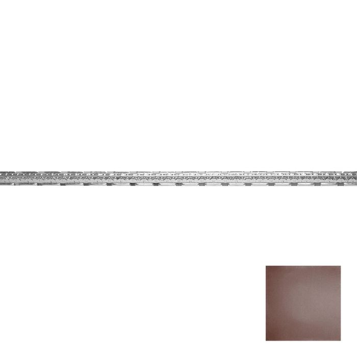 Tin Plated Stamped Steel Cornice | 1-1/2in H x 1-1/2in Proj | Classic Burgundy Finish | 4ft Long