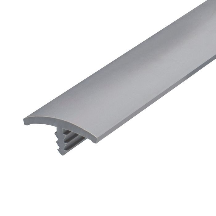 1-1/8in Dove Grey Flexible PVC | Flat Face Bumper Tee Moulding | 250ft Coil