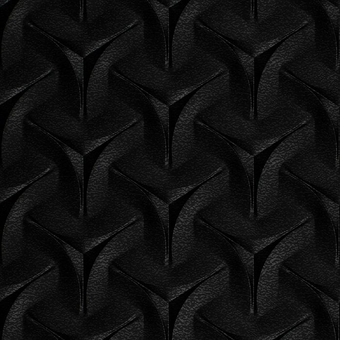 10' Wide x 4' Long Japanease Weave Pattern Eccoflex Black Finish Thermoplastic FlexLam Wall Panel