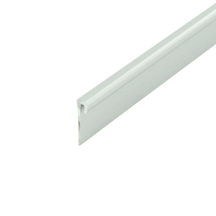 1/16in Clear Anodized (Satin) | Aluminum Cap Moulding | 12ft Length