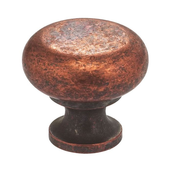 "Vintage Copper Finish 1 7/32"" Diameter Knob"