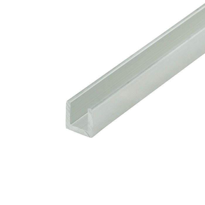 1/4in | Mechanical Polished Finish | Aluminum U Channel Moulding | 12ft Length