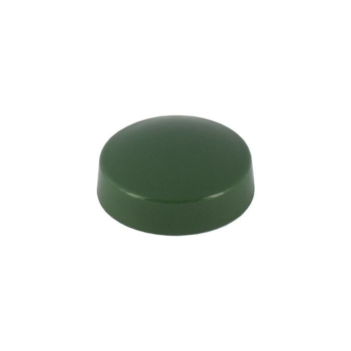 ".515"" Diameter Forest Green Polypropylene Pop-On Scew Cover"