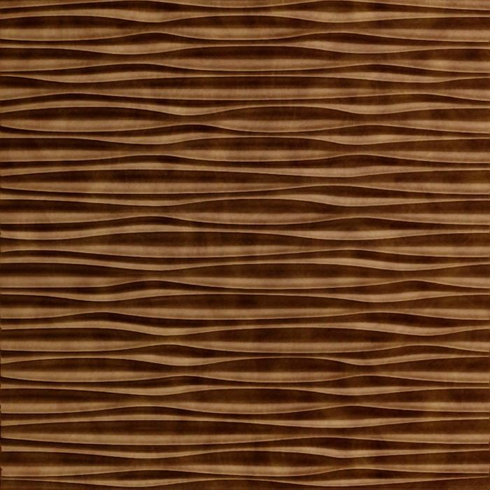 10' Wide x 4' Long Sahara Pattern Antique Bronze Finish Thermoplastic Flexlam Wall Panel