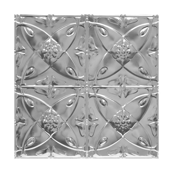 Tin Plated Stamped Steel Ceiling Tile | Lay In | 2ft Sq | Lacquer Finish