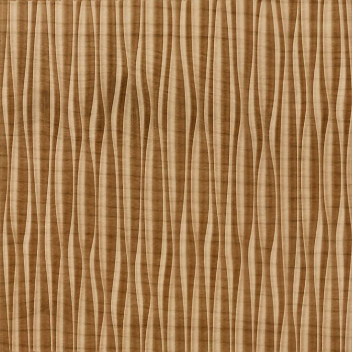 FlexLam 3D Wall Panel | 4ft W x 10ft H | Sahara Pattern | Oregon Ash Vertical Finish