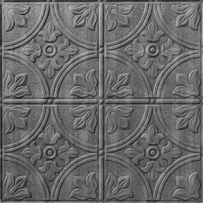 10' Wide x 4' Long Boston Pattern Crosshatch Silver Finish Thermoplastic Flexlam Wall Panel