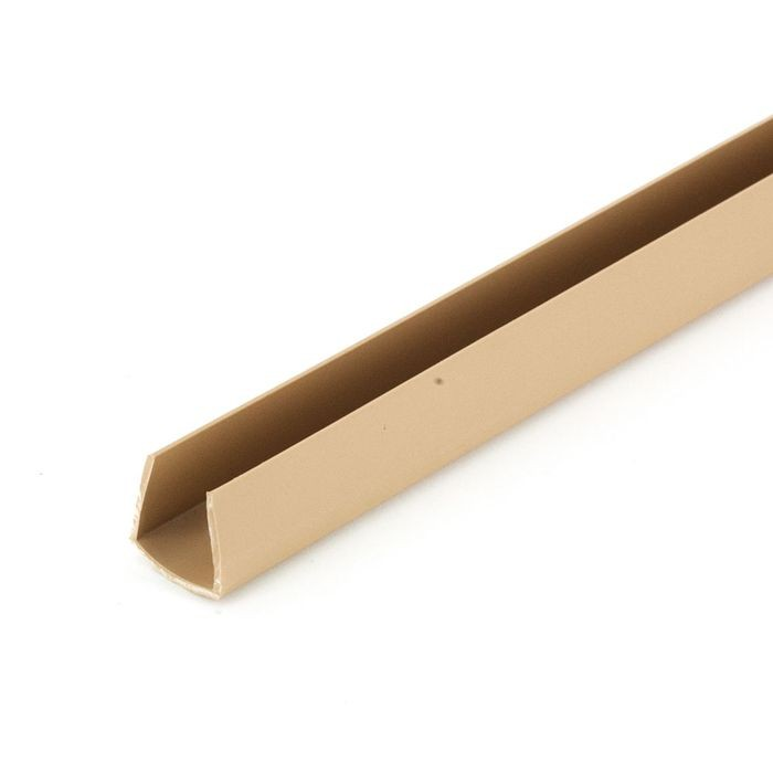 1/2in | Beige Rigid Styrene | U Channel Moulding | 12ft Length