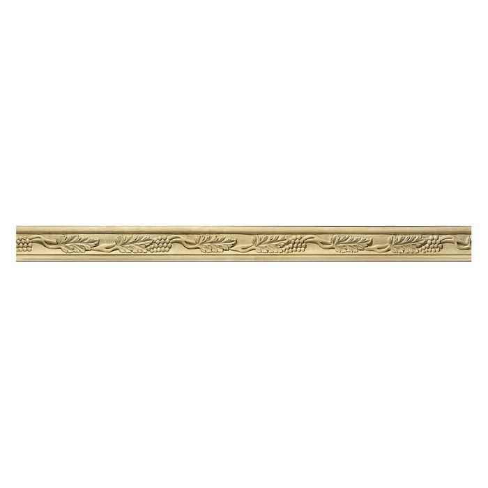 Hand Carved Wood Panel Moulding | Grape 8ft Long