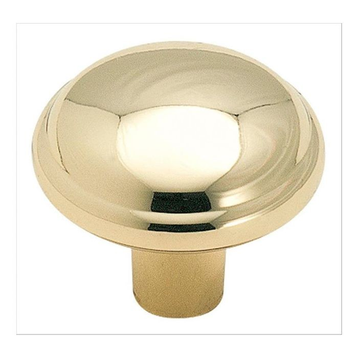 "1 1/8""  Diameter Knob Polished Brass"