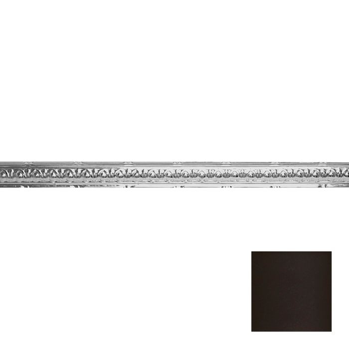 Tin Plated Stamped Steel Cornice | 2-1/2in H x 2-1/2in Proj | Bronze Finish | 4ft Long