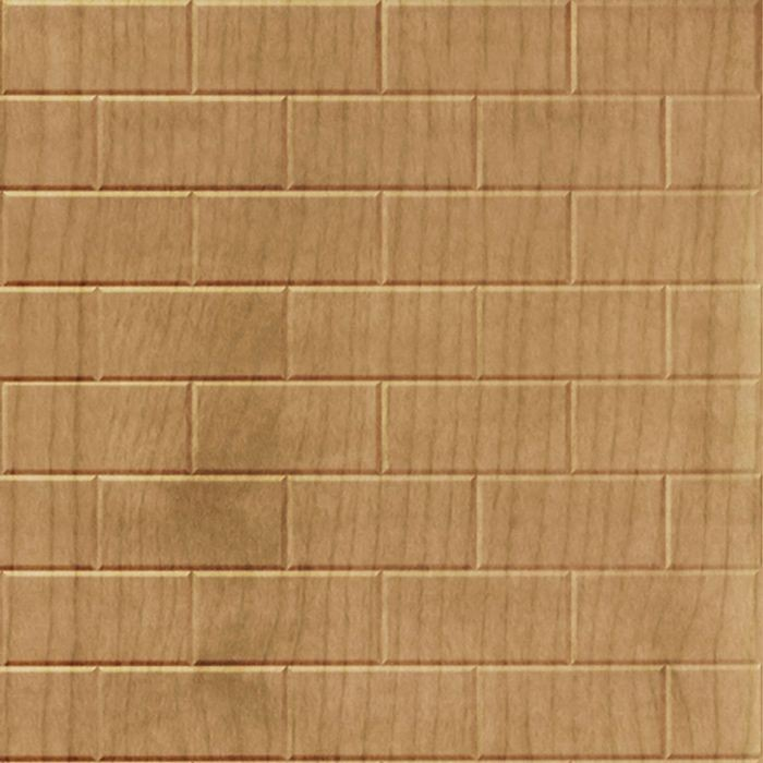 10' Wide x 4' Long Subway Tile Pattern Oregon Ash Finish Thermoplastic Flexlam Wall Panel