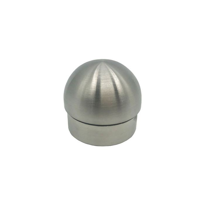 1-1/2in Dia | Satin Stainless Steel Finish | Half Ball End Cap