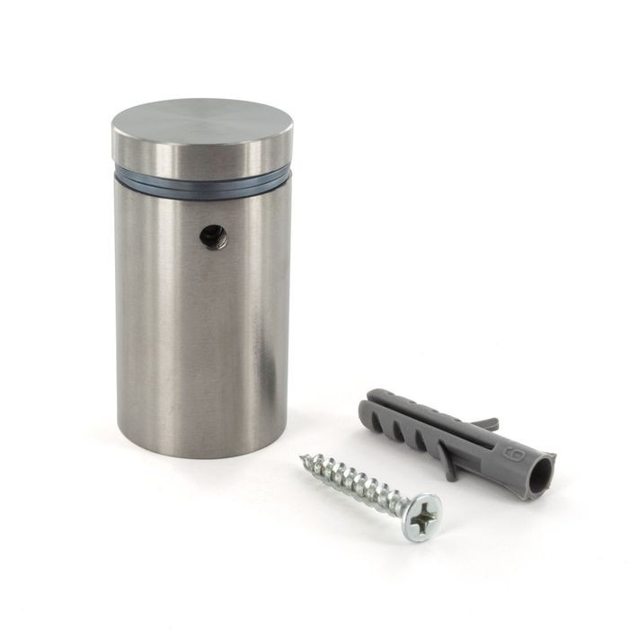 1in Dia x 1-1/2in Barrel Length | Brushed Stainless Finish | Eco Lock Series | Tamper Proof Standoff