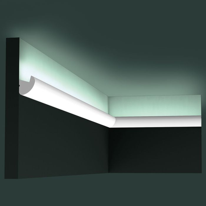 Orac Decor | High Impact Polystyrene Crown Moulding | Primed White | 1-1/2in Face x 78in Long