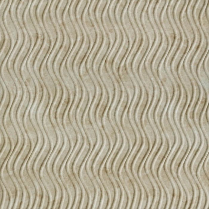 10' Wide x 4' Long Wavation Pattern Travertine Vertical Finish Thermoplastic Flexlam Wall Panel