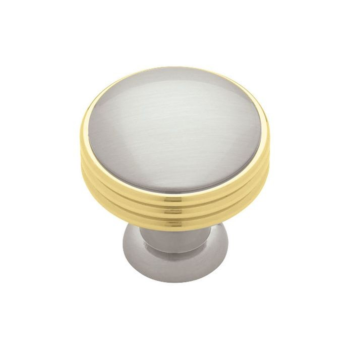 "1.57"" Dia Solid Brass Knob Satin Nickel (40mm)"