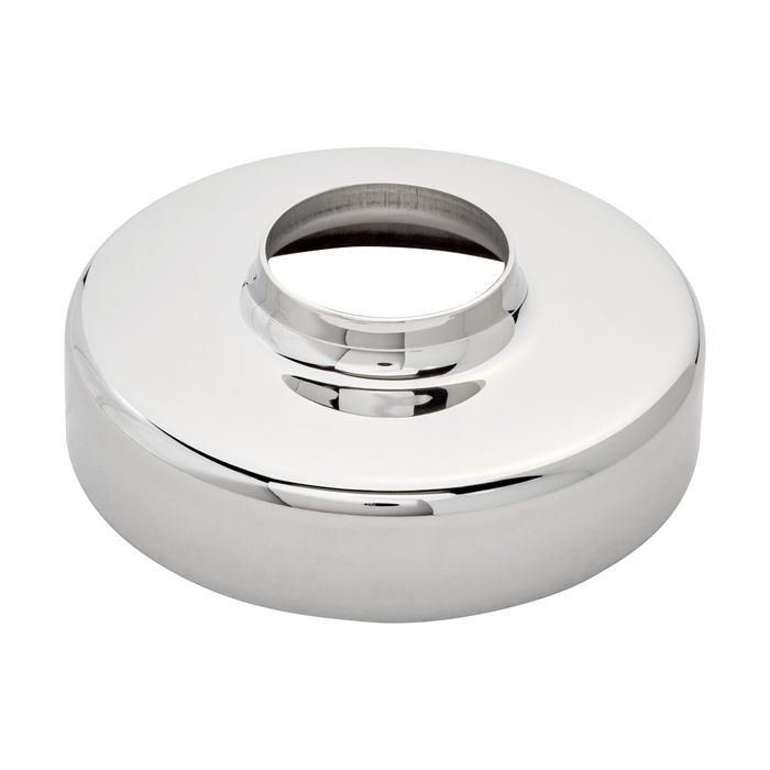 1-1/2in Dia x 4-1/16in H | Polished Stainless Steel Finish | Flange