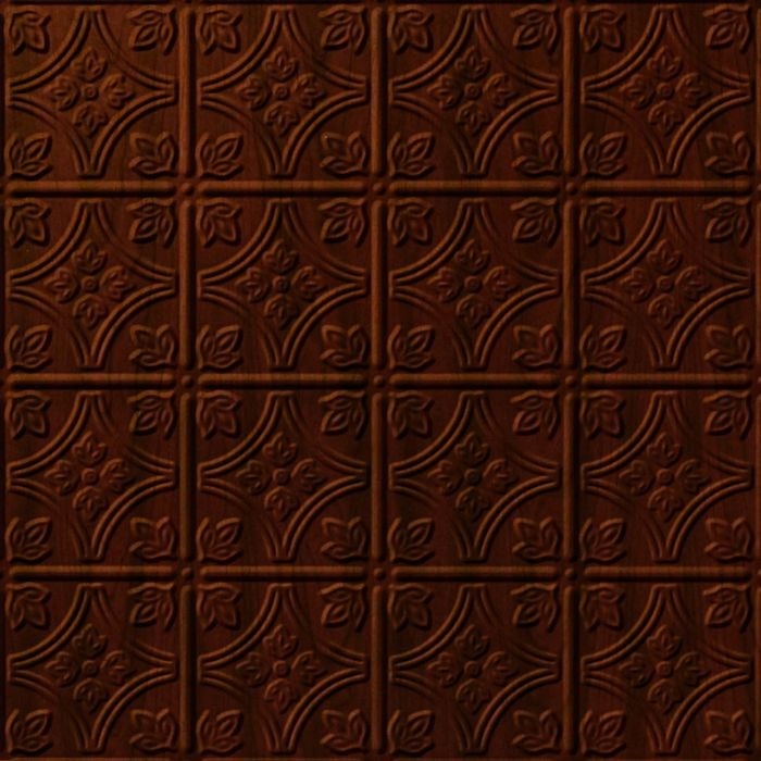 10' Wide x 4' Long Savannah Pattern Welsh Cherry Finish Thermoplastic Flexlam Wall Panel