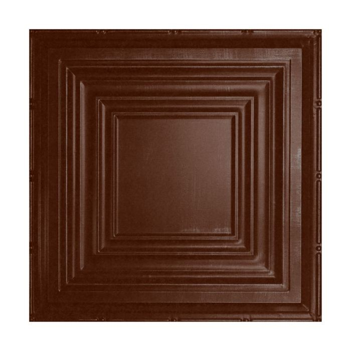 Tin Plated Stamped Steel Ceiling Tile | Nail Up/Glue Up Ceiling Tile | 2ft Sq | Marsala Pewter Celiling Finish