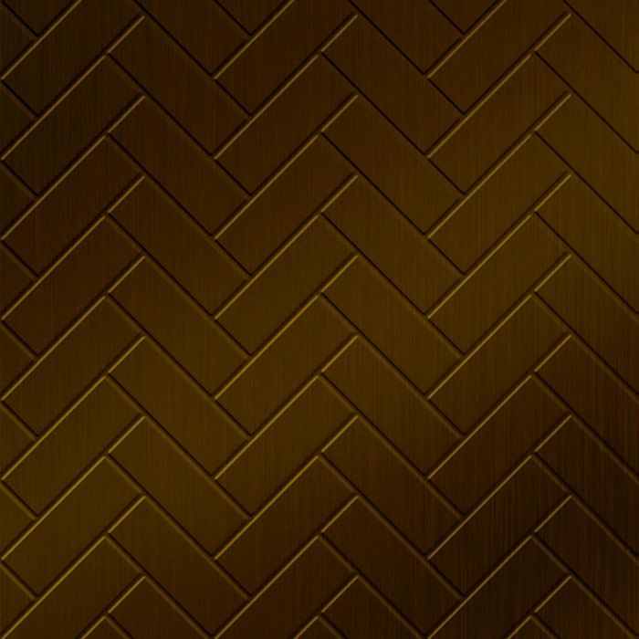 10' Wide x 4' Long Herringbone Pattern Oil Rubbed Bronze Finish Thermoplastic Flexlam Wall Panel