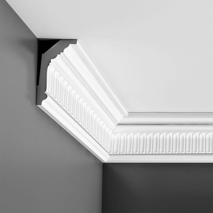 "Orac Decor Polyurethane Crown Moulding, Primed White. Face: 5-1/2"", Length: 78-3/4"""