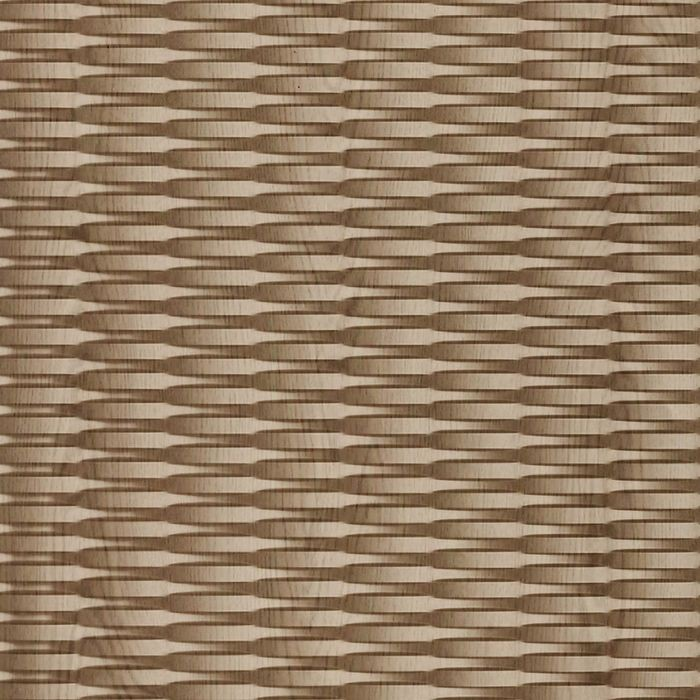 FlexLam 3D Wall Panel | 4ft W x 10ft H | Interlink Pattern | Washed Oak Finish