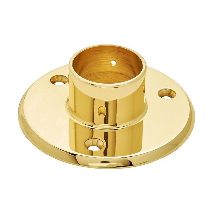 1-1/2in Dia x 1-3/16in H | Polished Brass Finish | Flange | S82-220 Series