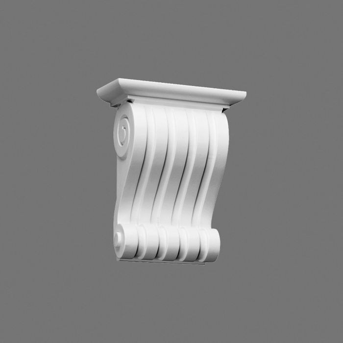 Orac Decor High Density Polyurethane Corbel, Primed White. Height: 8-7/8""