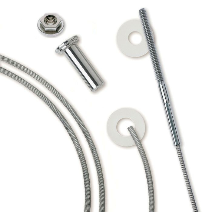"10' 3/16"" Dia. Cable Rail Assembly For Metal Posts"