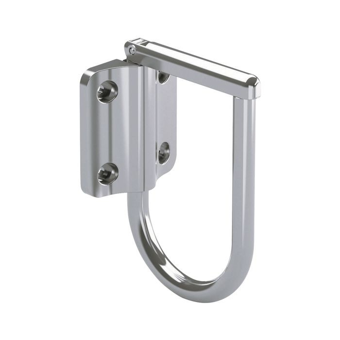 Stainless Steel Mirror Finish 180 Degree Swing Latch Hook With Friction