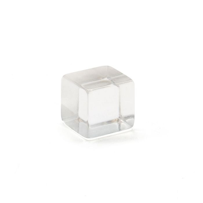 "1/2"" Clear Acrylic Crystal Square Series Invisi Standoff"