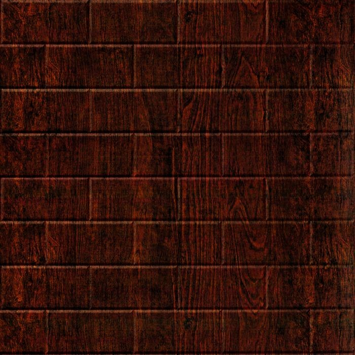 FlexLam 3D Wall Panel | 4ft W x 10ft H | Subway Tile Pattern | African Cherry Finish