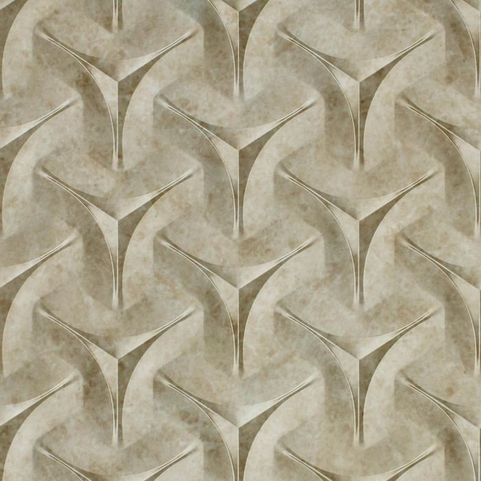10' Wide x 4' Long Japanease Weave Pattern Vintage Metal Finish Thermoplastic Flexlam Wall Panel
