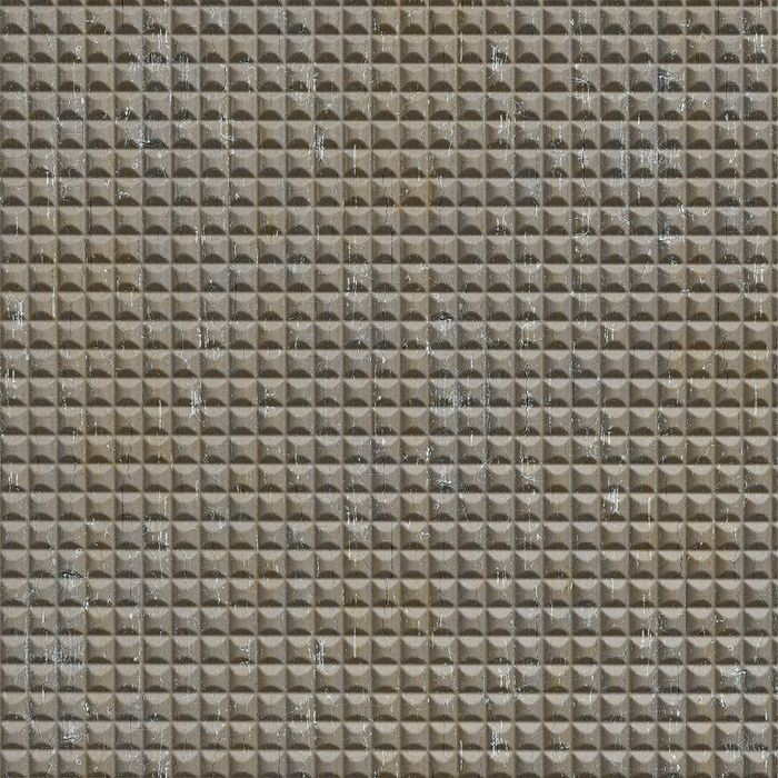 10' Wide x 4' Long Chocolate Square Pattern Vintage Metal Finish Thermoplastic Flexlam Wall Panel