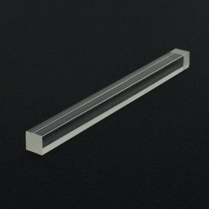 1/2in Square | Clear Acrylic Bar | 6ft Length