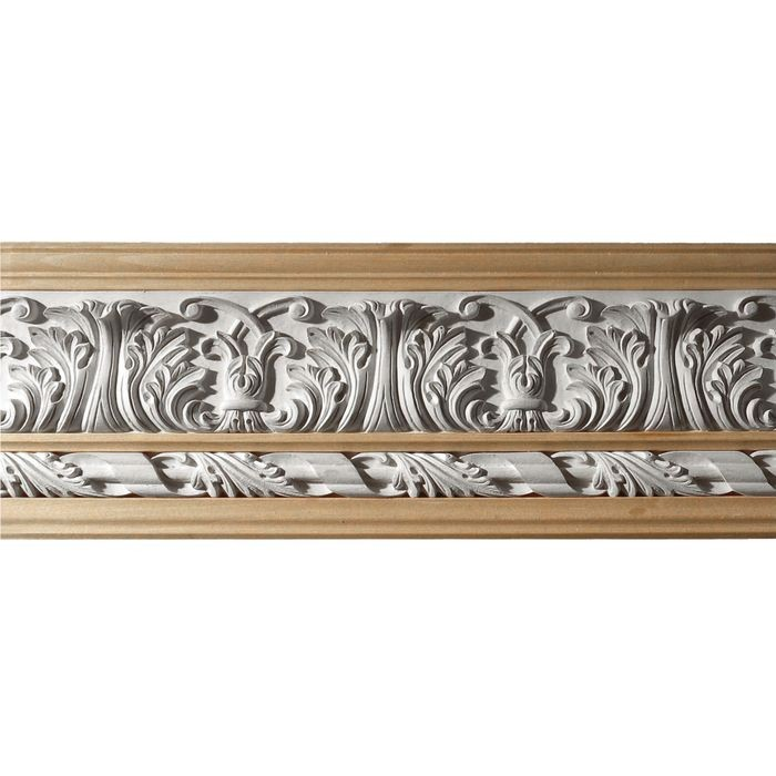 10in H x 1-1/2in Proj | Unfinished Polymer Resin | 480-C Series with Bottom Style 4 | Frieze Moulding | 10ft Long