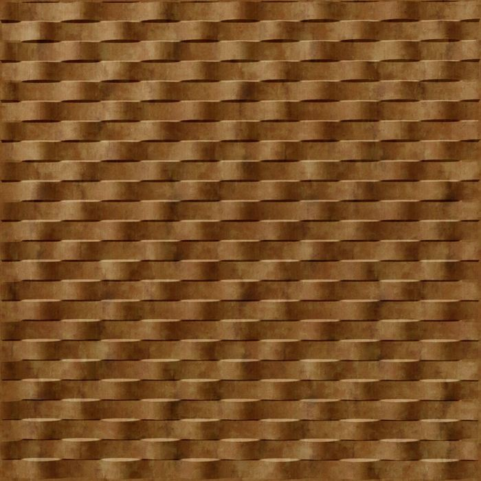 10' Wide x 4' Long Weave Pattern Muted Gold Finish Thermoplastic Flexlam Wall Panel