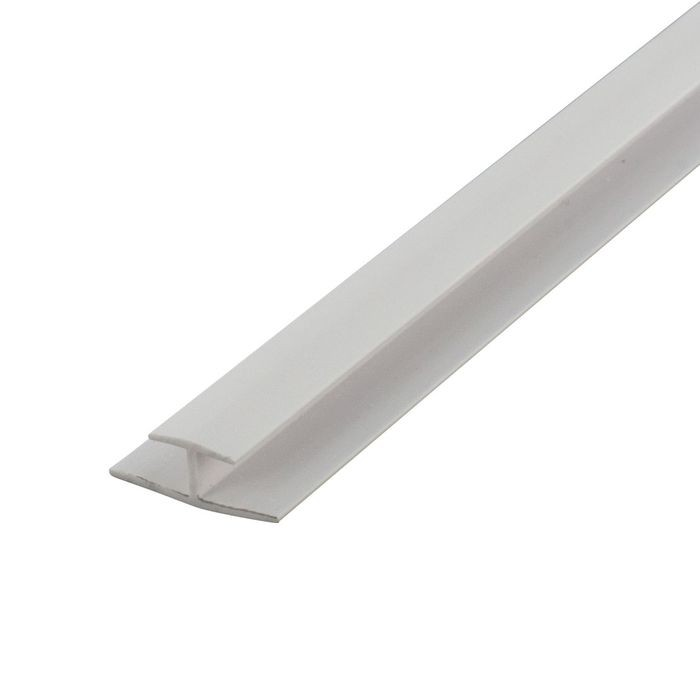 1/4in White ABS | Divider Moulding | 8ft Length