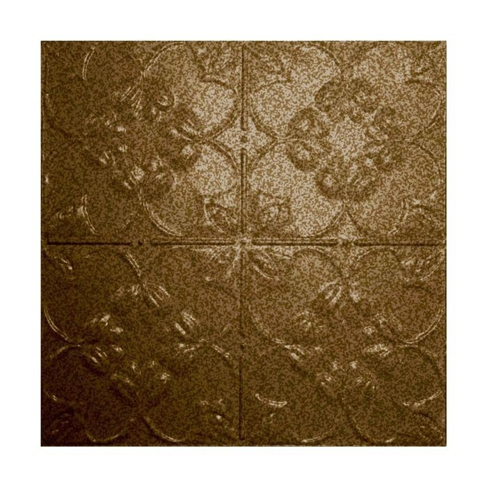 Tin Plated Stamped Steel Ceiling Tile | Nail Up/Glue Up Ceiling Tile | 2ft Sq | Bronze Vein Finish