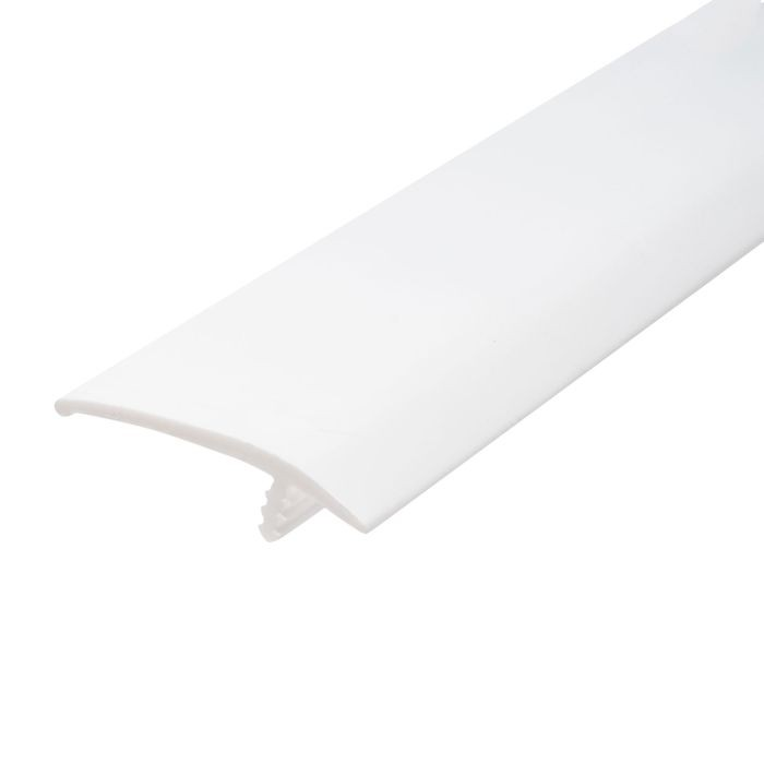 1-1/2in 601 White Flexible Polyethylene | OffsetBarb Tee Moulding | 250ft Coil
